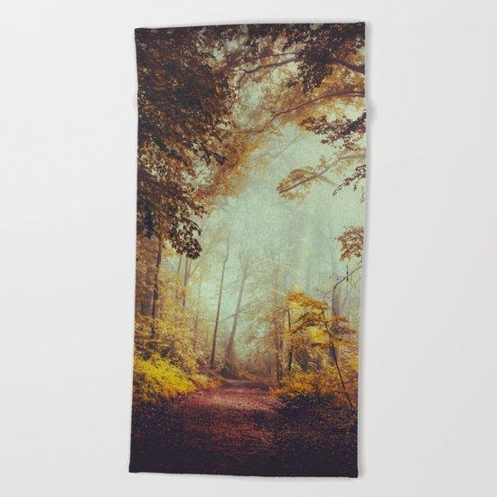Silent Forest Beach Towel