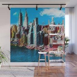 Midtown Manhattan New York City Skyline Portrait - Jéanpaul Ferro Wall Mural