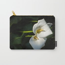 Close-up of Giant White Calla Lily Carry-All Pouch