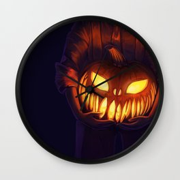 Jack'o'Lantern (#Drawlloween2016 Series) Wall Clock