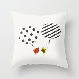 Pattern conflict Throw Pillow