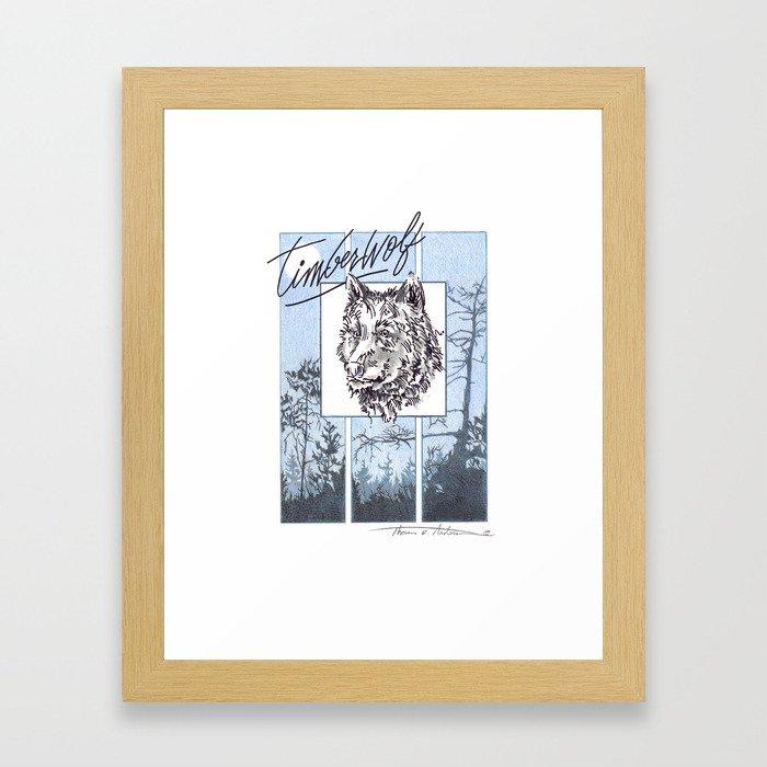 Timberwolf Framed Art Print