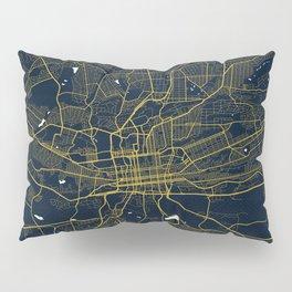 Johannesburg City Map of South Africa - Gold Night Light Pillow Sham