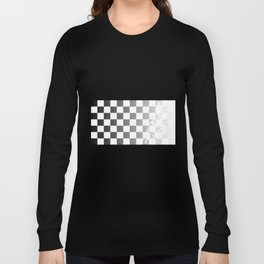 Chequered Flag Grunge Long Sleeve T-shirt
