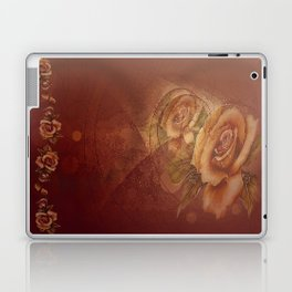Abstract VintageBronze Roses Laptop & iPad Skin