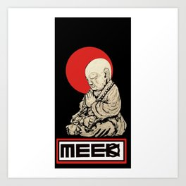Bless the Meek Buddha Art Print