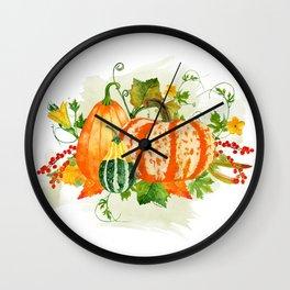 Pumpkin Bouquet Wall Clock