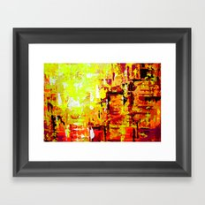 City Walk Framed Art Print