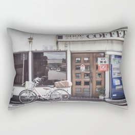 Bike and Coffee Shop in Kyoto Rectangular Pillow