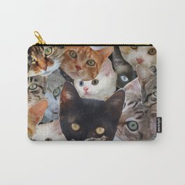 Kitty Collage Carry-All Pouch