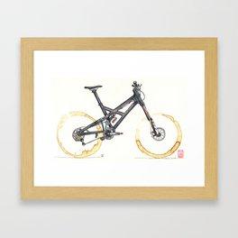 Coffee Wheels #05 Framed Art Print