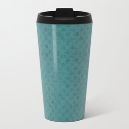 Distressed Squares in Cadmium Green Travel Mug