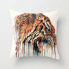 Dripping Tiger Throw Pillow