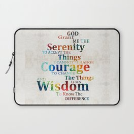 Colorful Serenity Prayer by Sharon Cummings Laptop Sleeve