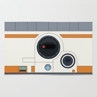 boob Area & Throw Rugs featuring BB-8 by dudsbessa
