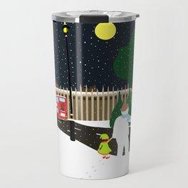 Christmas Gang in London Travel Mug