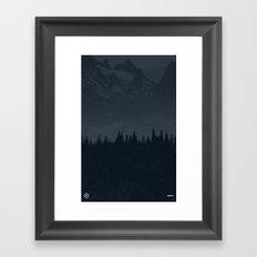 Nature / Dark Framed Art Print