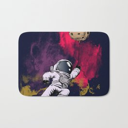 minimalist Astronaut Bath Mat