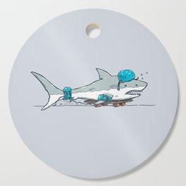 The Shark Skater Cutting Board