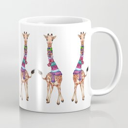 Cold Outside - cute giraffe illustration Coffee Mug