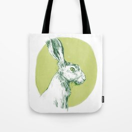 Green Hare Tote Bag