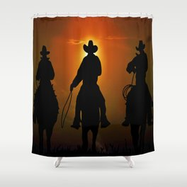 Riders To The West Shower Curtain