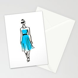 fashion sketch 1 Stationery Cards