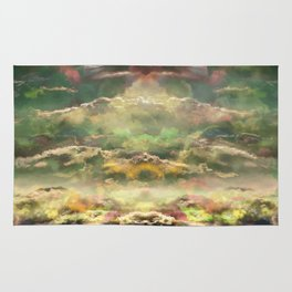 Head in the Clouds by Debbie Porter - Designs of an Eclectique Heart Rug