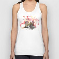 david tennant Tank Tops featuring Doctor Who 10th Doctor David Tennant With Companion Rose Tyler by idillard