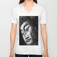 zen V-neck T-shirts featuring zen by Joedunnz
