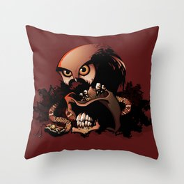 The Dead Cowboy, The Rattlesnake and The Owl Throw Pillow