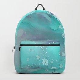 Floating flowers teal Backpack