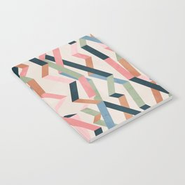 Straight Geometry Ribbons 1 Notebook