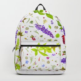 Leaves and flowers pattern (33) Backpack