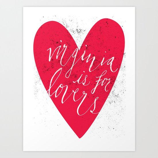 Virginia is for Lovers Art Print