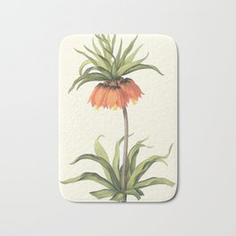 Botanical Print, Fritillaria / Imperial Crown Bath Mat