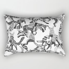 woodland fox party black white Rectangular Pillow
