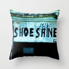 Shoe Shine  Throw Pillow