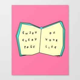Words from a Colorful Book - inspirational quote illustration Canvas Print
