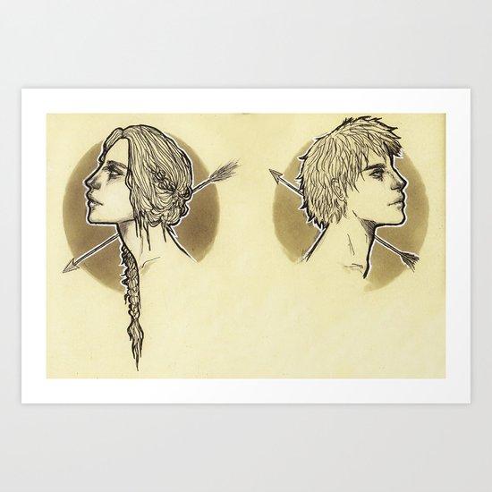Everlark Art Print