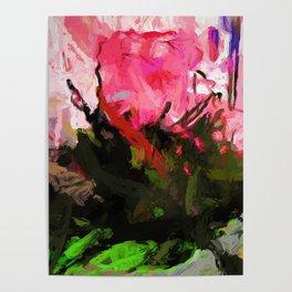 Rose Romantica Pink Flower Maelstrom Poster