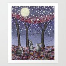 starlit bunnies Art Print