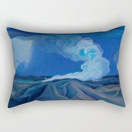 Franklin Carmichael - The Nickel Belt - Canada, Canadian Watercolor Painting - Group of Seven Rectangular Pillow