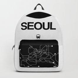 Seoul Black Subway Map Backpack