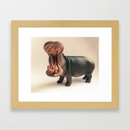 Hippo Mouth Framed Art Print