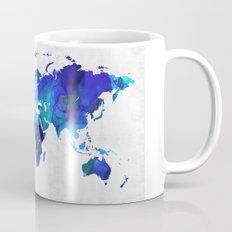 World Map 17 - Blue Art By Sharon Cummings Mug