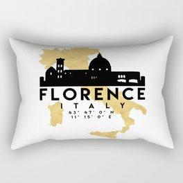 FLORENCE ITALY SILHOUETTE SKYLINE MAP ART Rectangular Pillow
