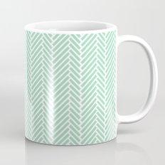 Herringbone Mint Inverse Mug