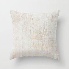 White Wood Throw Pillow