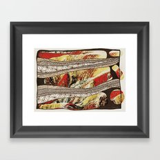 Danxia interpretation Framed Art Print
